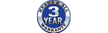 3 Year 'Heads and All' Warranty